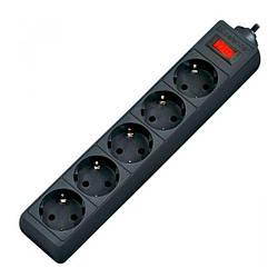 Мережевий фільтр 220v (1,8 м) Defender ES (5 розеток) Black
