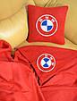 """Автомобільні плед в чохлі з логотипом """"BMW"""" колір на вибір, фото 4"""