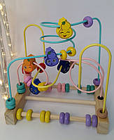 Дерев'яна гра Лабіринт, Fun Game, в коробці, Пальчиковий лабіринт 88810, фото 1