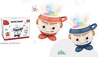 Музыкальная игрушка для малышей зажигательный танцующий барабан с диско светом A-Toys 668-186