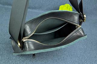 """Мужская сумка """"Модель №43"""" Кожа Итальянский краст цвет Черный, фото 3"""