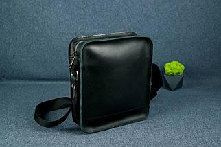 """Чоловіча сумка """"Модель №43"""" Шкіра Італійський краст колір Чорний, фото 2"""