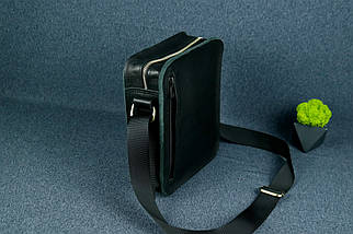 """Чоловіча сумка """"Модель №43"""" Шкіра Італійський краст колір Чорний, фото 3"""