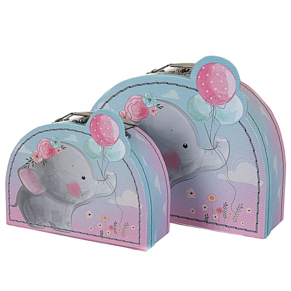 Набор из 2-х подарочных коробок Слоник 24х18х9 см 18136-006