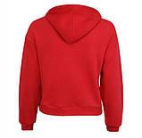 Подростковое худи красное с карманом женское худи с капюшоном на ленточках, фото 3