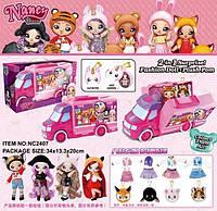 Детский игровой набор машинка с куклой и аксессуарами A-toys NC2407
