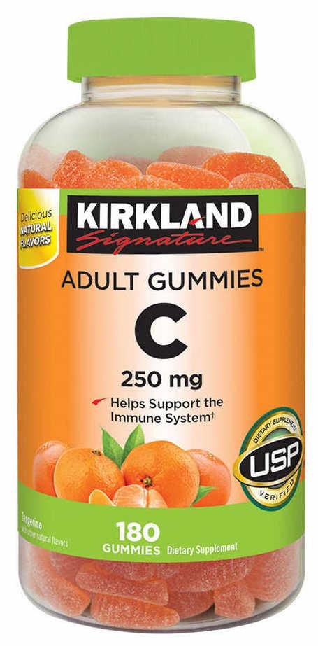 Kirkland Signature Gummies Vitamin C 250mg - Жевательный Витамин C 250мг (180табл.)