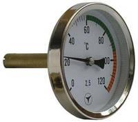 Термометр биметаллический ТБУ-63/50 осевой 0...120с