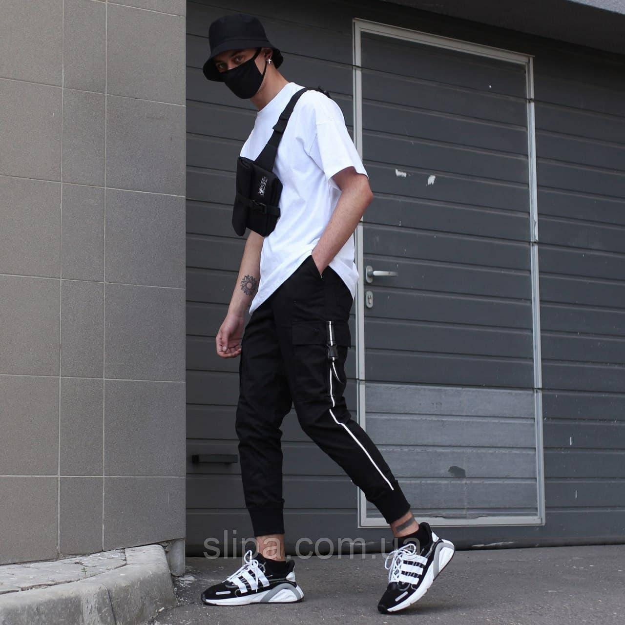 """Мужские штаны карго """"FUJIN"""" чёрные"""