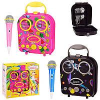Караоке для детей - Микрофон с колонкой чемоданчик - FM, Bluetooth /USB / TF-карта/AUX