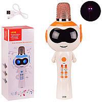 Беспроводной микрофон в дизайне Инопланетянина Kids Karaoke Microphone L838