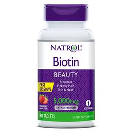 Natrol Biotin 5000mcg - Биотин, клубника 5000 мкг (250табл.)