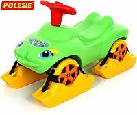 """Каталка """"Мій улюблений автомобіль"""" зі звуковим сигналом багатофункціональна (зелена)"""