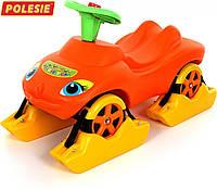 """Каталка """"Мій улюблений автомобіль"""" зі звуковим сигналом багатофункціональна (помаранчева)"""