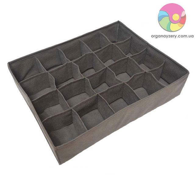 Коробочка для трусиков 20 ячеек (серый)