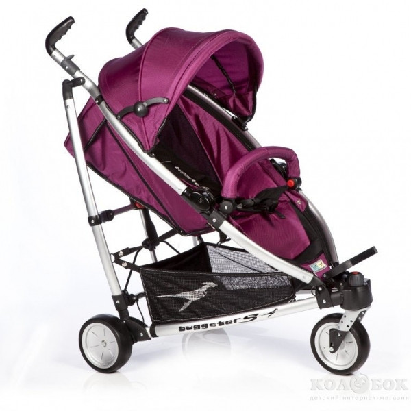 Прогулочная коляска трость TFK Buggster S carbo/red Коляска Buggster S carbo/berry