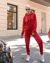 """Велюровый спортивный женский костюм """"Sweet love"""" с капюшоном (большие размеры), фото 3"""