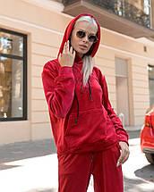 """Велюровый спортивный женский костюм """"Sweet love"""" с капюшоном (большие размеры), фото 2"""