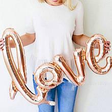 Love прописью100 см розовое золото фольгированный шар 1898
