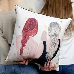 Подушка інтер'єрна з мішковини Сонечко, я завжди з тобою! 45x45 см (45PHB_20F001)
