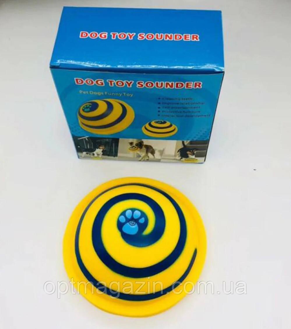 Игрушки для собак с пищащим звуком, диск Гав планер Dog Toy Sounder