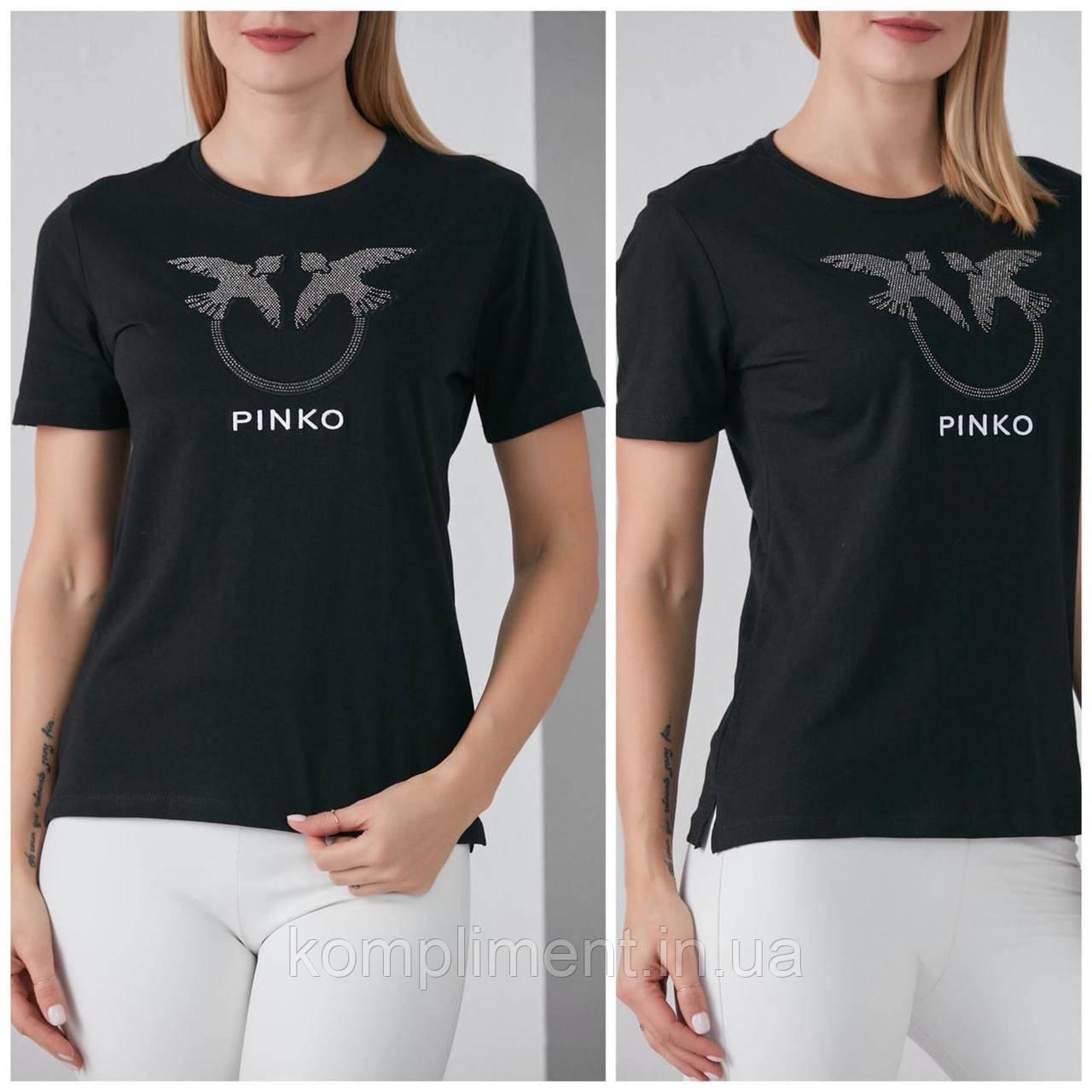 Турецкая трикотажная модная футболка с рисунком, черная FP 2051