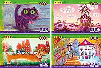  Альбом для малювання А5, 12 аркушів,120 г м2, на скобі, KIDS Line