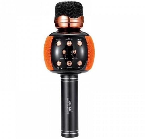 Караоке-микрофон портативный Wster WS-2911, оранжевый