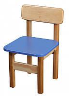Детский деревянный стульчик цветной Финекс Плюс синий, фото 1