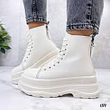 Женские ботинки ДЕМИ бежевые на платформе эко кожа весна/ осень, фото 9