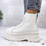 Женские ботинки ДЕМИ бежевые на платформе эко кожа весна/ осень, фото 8