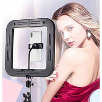 Квадратная светодиодная Led Лампа 28см D35 для селфи фото и видео съемки