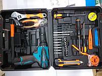 Шуруповёрт со строительным инструментом в чемодане c-157 набор для строительства