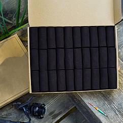 Подарочный набор 30+6 бокс однотонно-черных носков 41-43 размер, 30029234