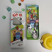 Подарочный набор детских столовых приборов Синий Трактор