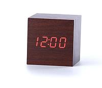 Стильные электронные настольные часы в виде деревянного бруска LED WOOD CLOCK VST-869-1