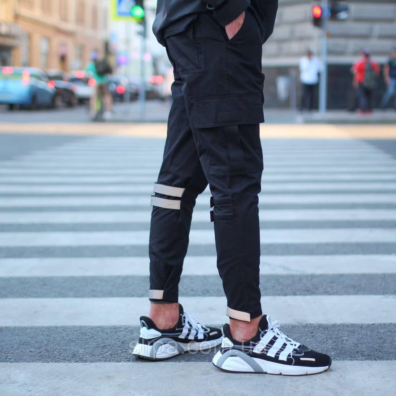 """Мужские чёрные штаны """"Raiot"""" чёрные"""
