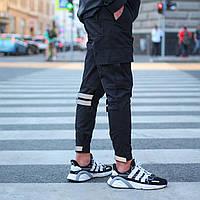 """Мужские чёрные штаны """"Raiot"""" чёрные, фото 1"""