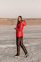 """Теплий і стильний зимовий жіночий костюм двійка з капюшоном і хутром овчиною на """"Синтепоні"""" 42, 44, 48 розмір 42, фото 3"""