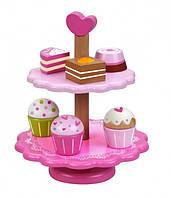 Игровой деревянный набор пирожных Classic world