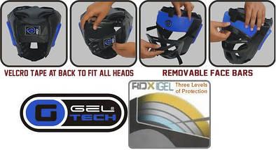 Боксерський шолом тренувальний RDX Guard Blue L, фото 3