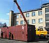Погрузка-разгрузка контейнера автокраном