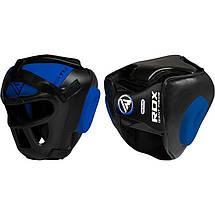 Боксерский шлем тренировочный RDX Guard Blue XL, фото 3