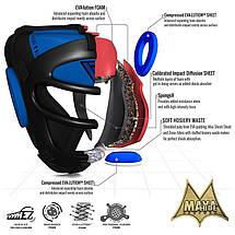 Боксерский шлем тренировочный RDX Guard Blue XL, фото 2
