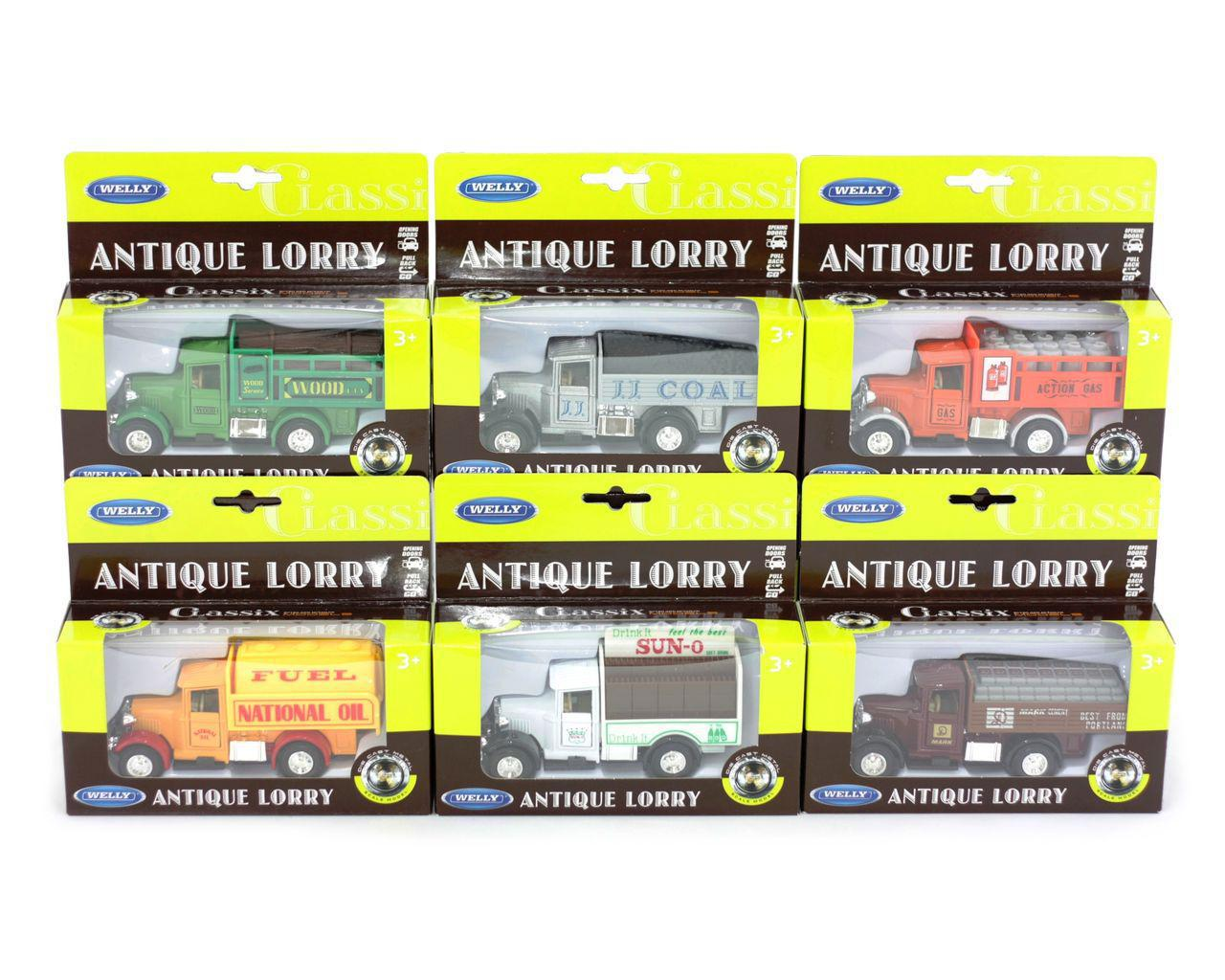 Машина металева Antique Lorry 6 видів 1:34-39  в коробці 99350W(b)