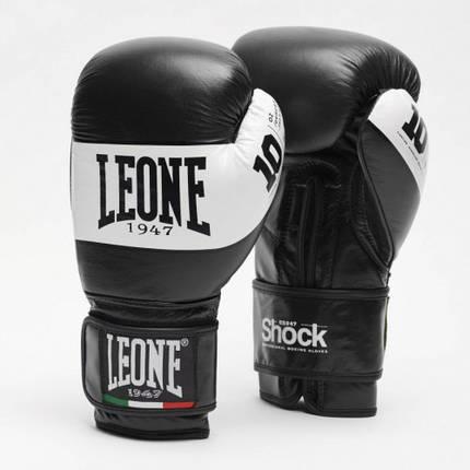 Боксерские перчатки Leone Shock Black 10 ун., фото 2