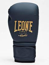 Боксерские перчатки Leone Mono Blue 10 ун., фото 3