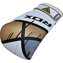 Боксерские перчатки RDX Rex Leather Gold 8 ун., фото 3