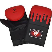 Снарядные перчатки, битки RDX Black Red, фото 2