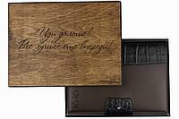 Шкіряний іменний блокнот А5 корічневого кольору
